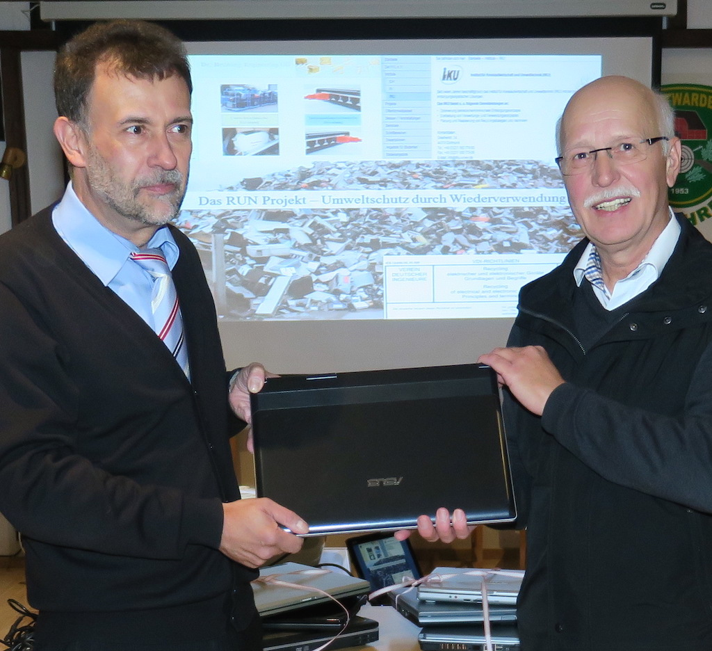 Horst Huntemann(rechts) mit Dr. Ralf Brüning